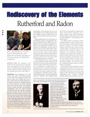 Primary view of object titled 'Rediscovery of the Elements: Rutherford and Radon'.