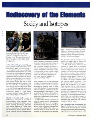 Rediscovery of the Elements: Soddy and Isotopes