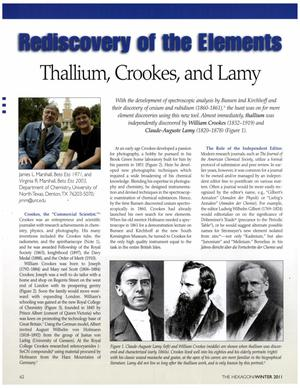 Rediscovery of the Elements: Thallium, Crookes, and Lamy
