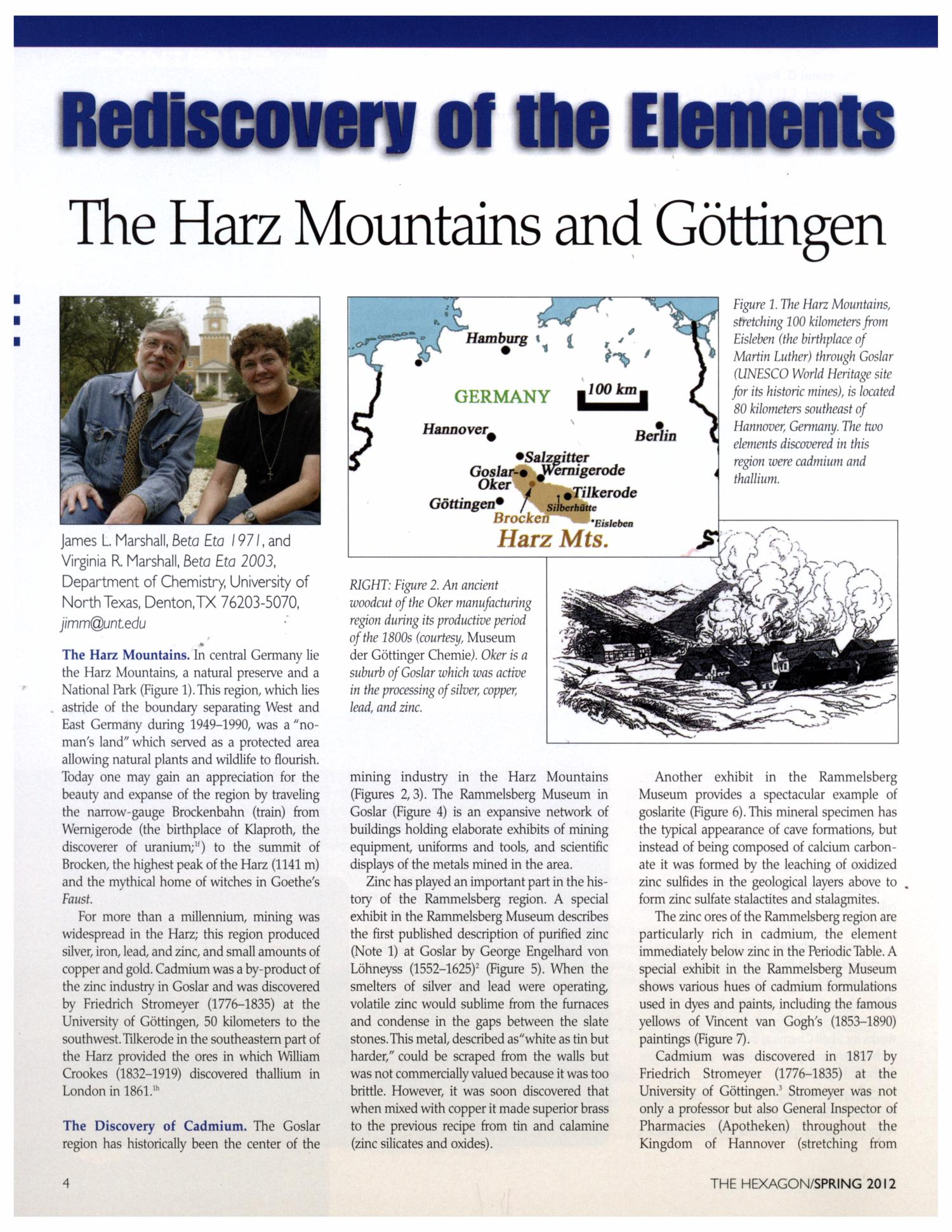 Rediscovery of the Elements: The Harz Mountains and Göttingen                                                                                                      [Sequence #]: 1 of 6