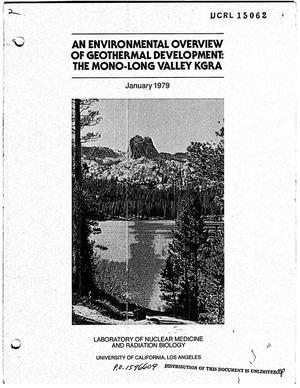 Primary view of object titled 'Environmental overview of geothermal development: the Mono-Long Valley KGRA'.