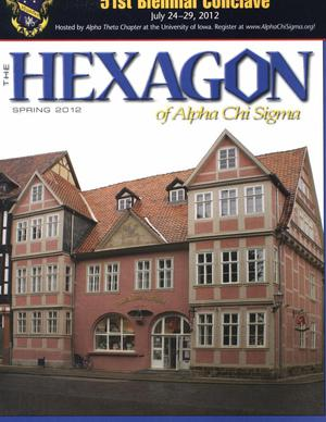 The Hexagon, Volume 103, Number 1, Spring 2012