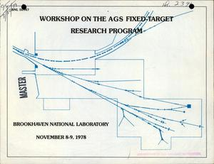 Primary view of object titled 'Workshop on the AGS fixed-target research program'.
