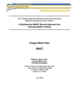Primary view of object titled 'Project Work Plan Draft'.