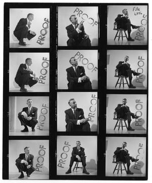 Primary view of object titled '[Sheet of Photographs of Stan Kenton]'.