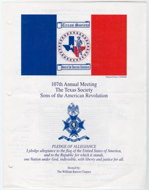 Primary view of object titled 'Annual Meeting of the Texas Society, Sons of the American Revolution, 2002'.