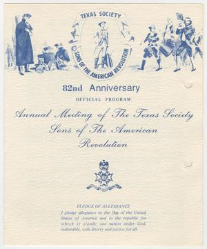 Primary view of object titled 'Annual Meeting of the Texas Society, Sons of the American Revolution, 1979'.