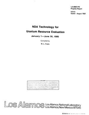 Primary view of NDA technology for uranium resource evaluation. Progress report, January 1-June 30, 1980