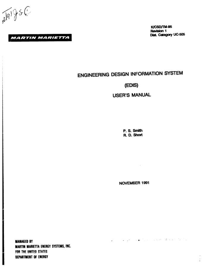 Engineering Design Information System Edis User Manual Unt Digital Library