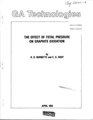 Primary view of object titled 'Effect of total pressure on graphite oxidation. [HTGR]'.