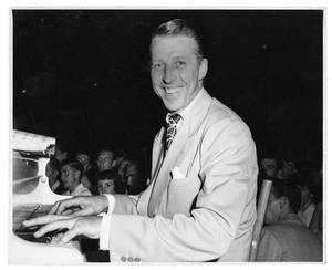 Primary view of object titled '[Photographs of Stan Kenton at the Piano]'.