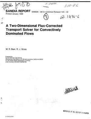 Primary view of object titled 'Two-dimensional flux-corrected transport solver for convectively dominated flows'.