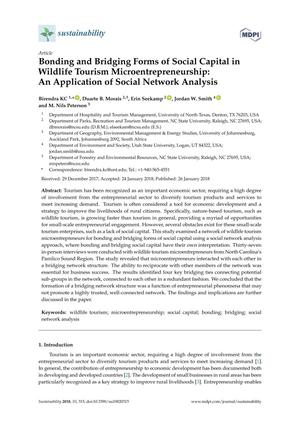 Bonding and Bridging Forms of Social Capital in Wildlife Tourism Microentrepreneurship: An Application of Social Network Analysis