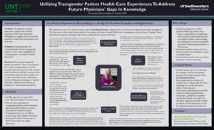 Primary view of object titled 'Utilizing Transgender Patient Health Care Experiences To Address Future Physicians' Gaps In Knowledge'.