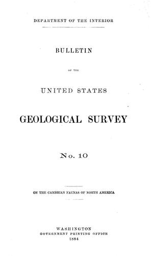 Primary view of On the Cambrian Faunas of North America Preliminary Studies