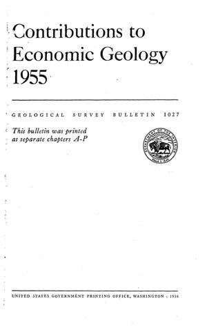 Primary view of object titled 'Contributions to Economic Geology 1955'.