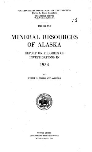 Primary view of Mineral Resources of Alaska: Report on Progress of Investigations in 1934