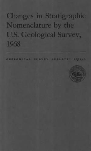 Primary view of object titled 'Changes in Stratigraphic Nomenclature by the U.S. Geological Survey, 1968'.
