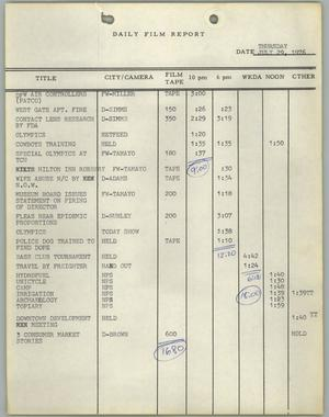 Primary view of object titled '[News Story Log: July 29 to December 31, 1976]'.