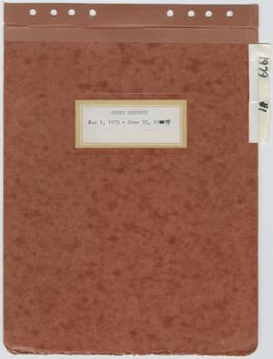 Primary view of object titled '[News Story Log: January 1 to June 30, 1979]'.