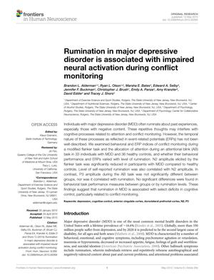 Rumination in major depressive disorder is associated with impaired neural activation during conflict monitoring
