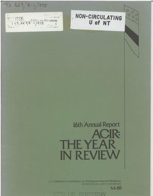 Primary view of object titled '16th Annual Report'.