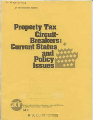 Primary view of object titled 'Property tax circuit-breakers : current status and policy issues'.