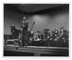 Primary view of object titled '[Photographs of Stan Kenton and Orchestra]'.