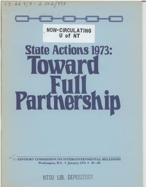 Primary view of object titled 'State actions 1973: Toward Full Partnership'.