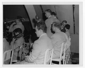 Primary view of object titled '[Photograph of Stan Kenton Orchestra at Moonlight Gardens]'.