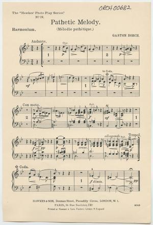 Primary view of Pathetic Melody: Harmonium Part
