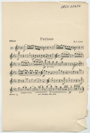 Primary view of Furioso: Oboe