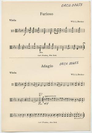 Primary view of Furioso and Adagio: Viola