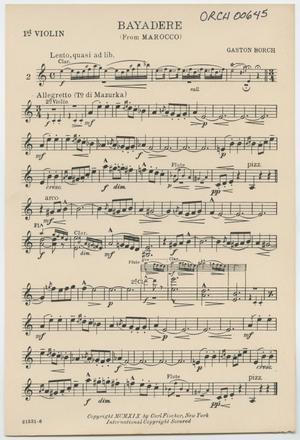 Bayadere: Violin 1