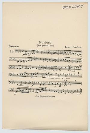 Primary view of Presto: Bassoon