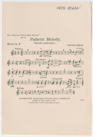 Primary view of Pathetic Melody: Horns in F