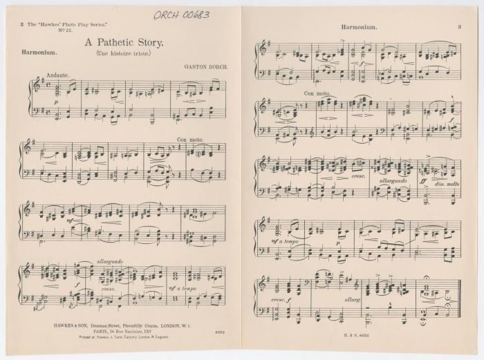 A Pathetic Story: Harmonium - Digital Library