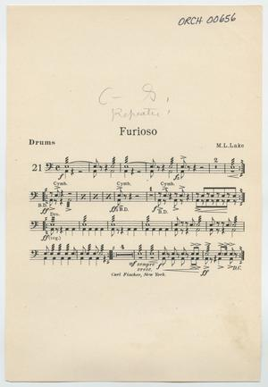 Primary view of Furioso: Drums Part