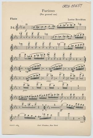 Primary view of Presto: Flute