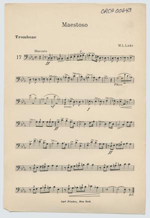 Primary view of Maestoso: Trombone