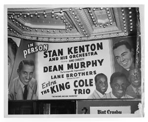 Primary view of object titled '[Photograph of Stan Kenton Billboard]'.