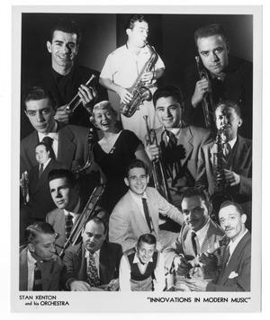[Collage of Stan Kenton and Orchestra]