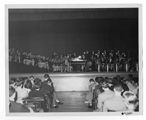 "Primary view of object titled '[Photograph of Stan Kenton and ""Innovations"" orchestra]'."