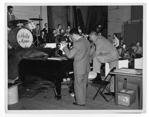 [Photograph of Stan Kenton, Orchestra and Franklyn Marks]