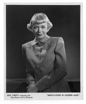 [Photograph of June Christy]