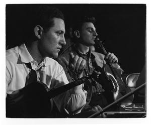Primary view of object titled '[Photograph of Unidentified Stan Kenton Orchestra Members]'.