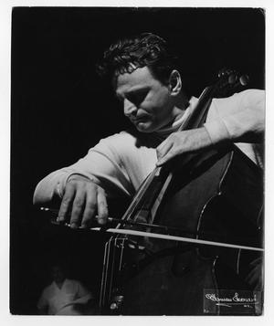 Primary view of object titled '[Photograph of an Unidentified Orchestra Member]'.