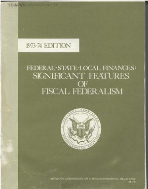 Primary view of object titled 'Federal-state-local finances: significant features of fiscal federalism'.