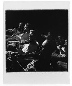 Primary view of object titled '[Photograph of Stan Kenton  Orchestra]'.