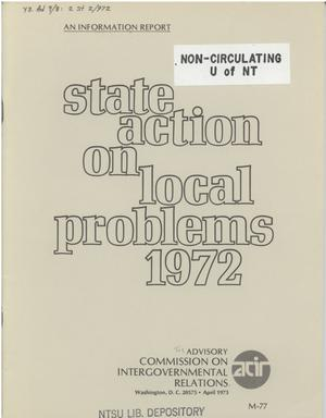 Primary view of object titled 'State action on local problems - 1972'.